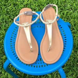 Gold and Cream Talbots sandals size 9